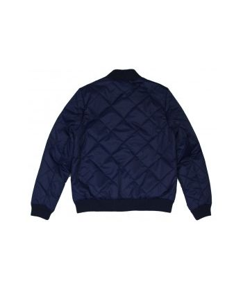 MEN BOMBER PADDED JACKET IN DIAGONAL QUILT
