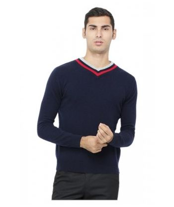 MEN'S V-NECK CASHMERE PULLOVER