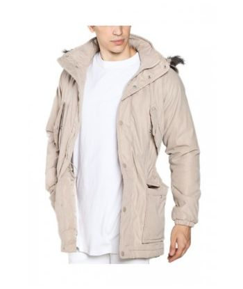 MEN MID-LENGTH PARKA PADDED JACKET