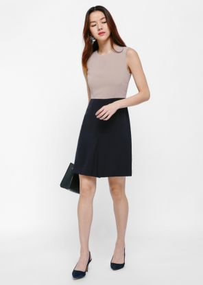 Palma Pleat Front A-line Dress